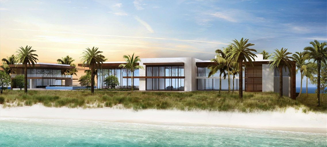 <b>6 Bedrooms, 22,000 Sq. Ft.</b><br/>Gated Trophy Ultra Modern Ocean to Intracoastal estate  on a rare 3.3+/- acre lot with 340+/- feet of beach frontage and 340+/- feet of Intracoastal frontage for the mega-yacht enthusiasts minutes to the Hillsboro Inlet.