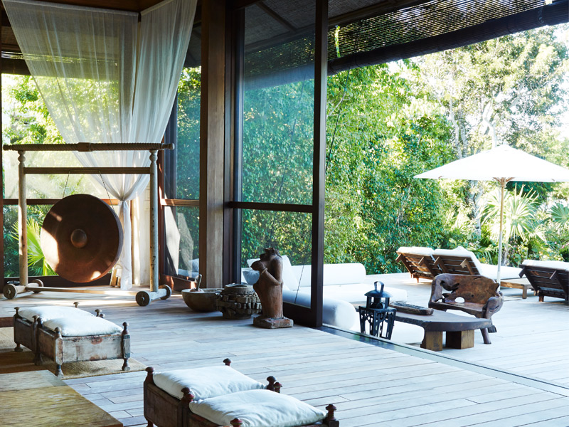 Donna Karan's signature look is evident everywhere at The Sanctuary. In each of the guest villas – which are sold fully furnished –you will find an eclectic mix of furniture, art, and artifacts gathered on her travels in Africa, Bali and Haiti. Photograph: Ngoc Minh Ngo