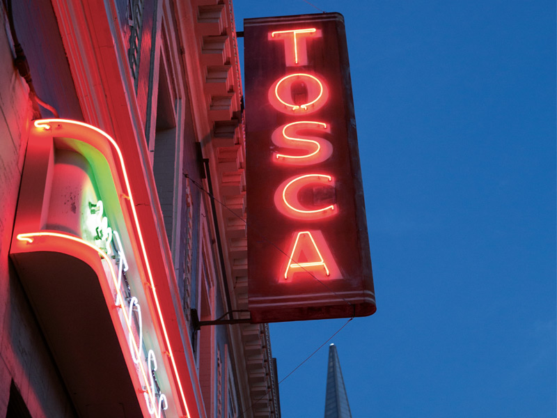 "The critically acclaimed Tosca Cafe in North Beach, AKA ""Little Italy."" Photograph: Jen Siska"