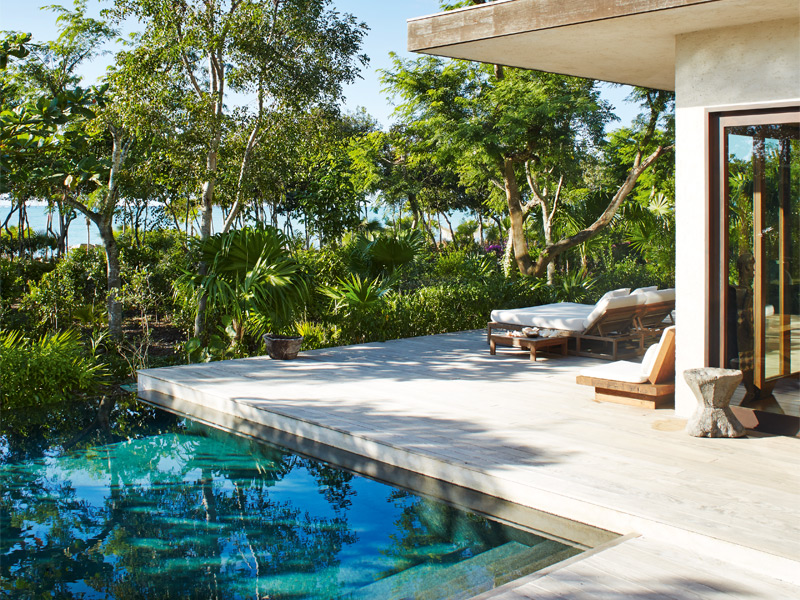 One of The Sanctuary's two guest villas and three swimming pools, just moments away from the white-sand beaches that make the Turks & Caicos so desirable. Photograph: Ngoc Minh Ngo