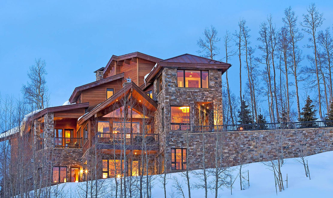 Breathtaking - The only word that appropriately describes the first impression upon entry to this stunning residence. Anchored on a ridge overlooking the Telluride Valley 800 feet below, floor-to-ceiling glass envelops the entire great room, living, kitchen, entertaining and dining areas with perfectly framed views of the San Sophia Range.