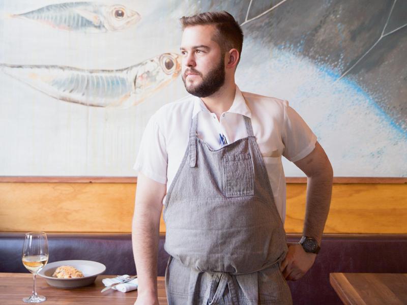 Flour + Water restaurant's chef de cuisine Evan Allumbaugh. Photograph: Jen Siska