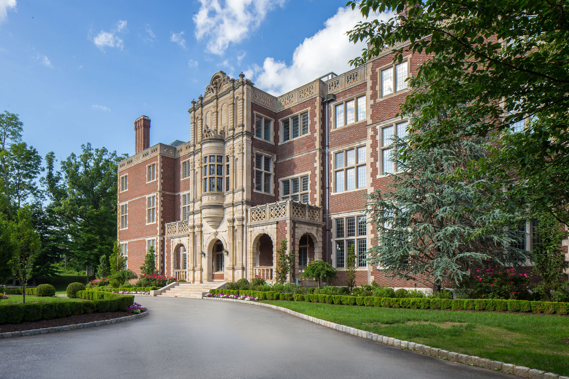 """""""The American Versailles,"""" Darlington was built in 1907 by renowned architects James Brite and Henry Bacon for railroad scion George Crocker. Today, the magnificent 58-room Jacobean-inspired mansion is listed on the National Register of Historic Places."""
