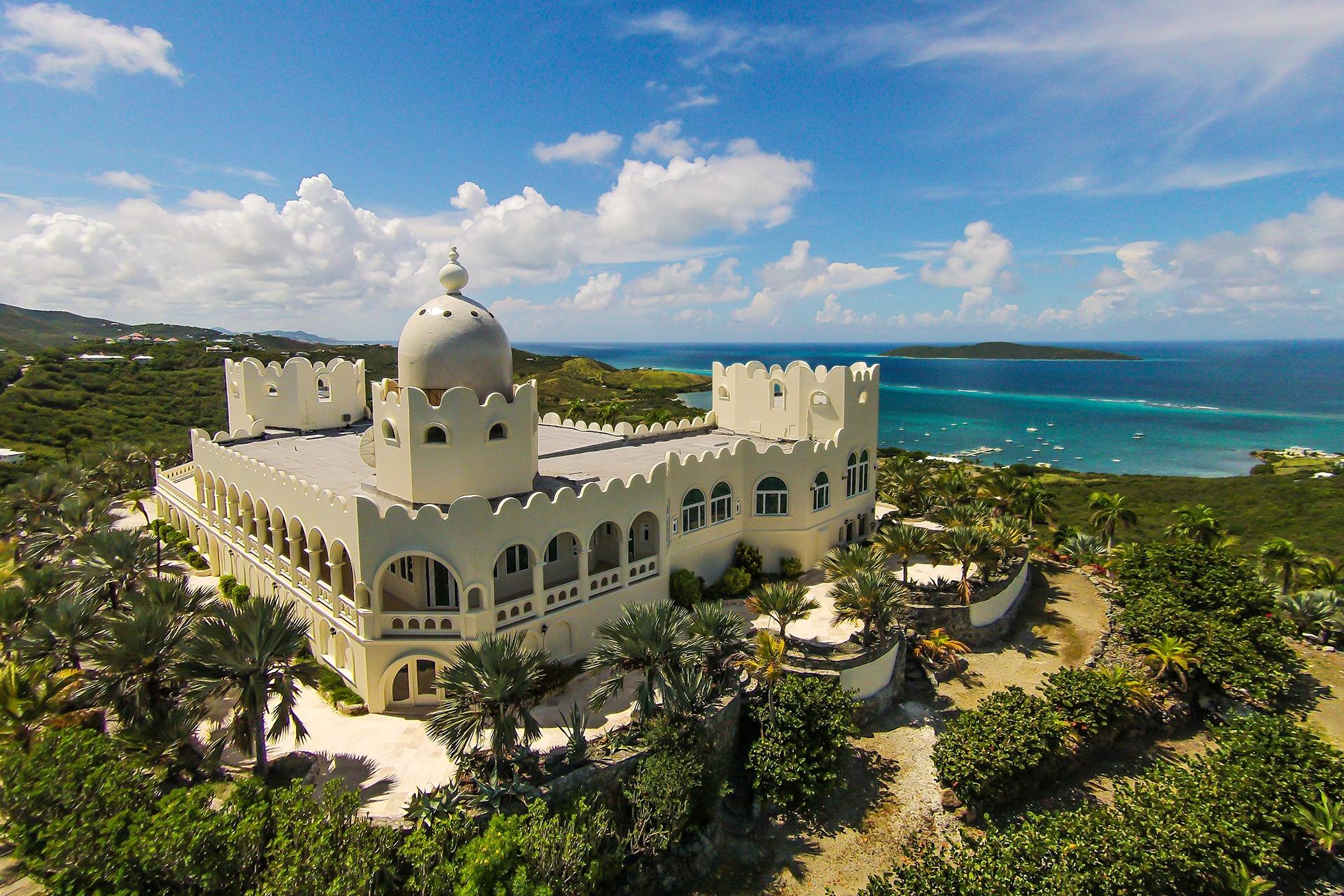Mountaintop Castle on the Coast of St. Croix, US Virgin Islands