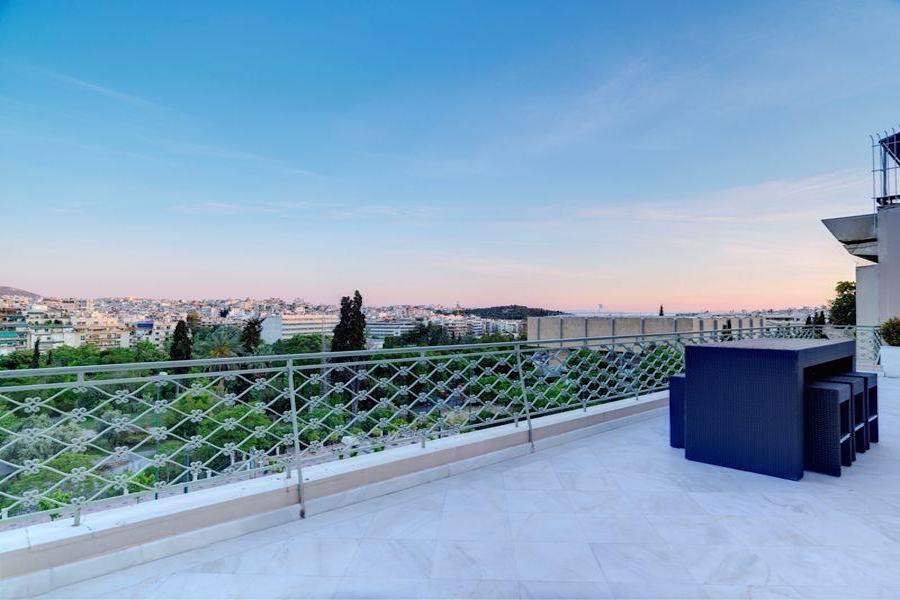 The ancient city of Athens retains its cultural importance and Mediterranean beauty, as can be seen from the balcony of this Athenian penthouse apartment.