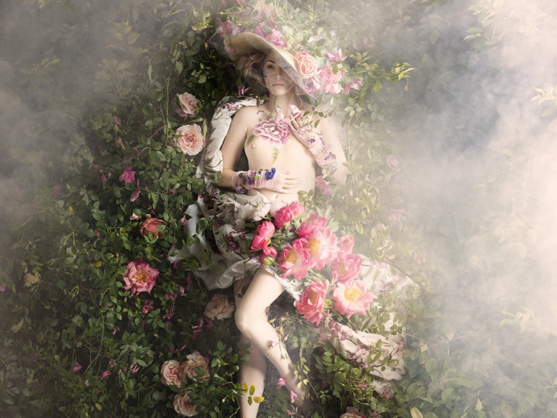 <i>Perfumier's Rose</i> (2015), part of Alexia Sinclair's <i>Rococo</i> series of artworks, inspired by the lives, fashions, and gardens of 18th-century high society.