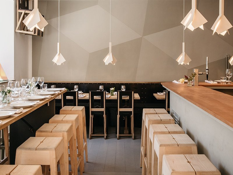 Menu themes at Wood Stockholm in Södermalm have included Stockholm Bloodbath, Marco Pierre White, and Salvador Dalí.