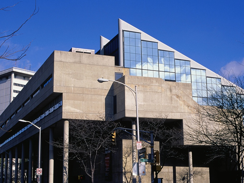 The Harvard Graduate School of Design is based in Gund Hall, designed by Australian architect and GSD graduate John Andrews. Photograph: Getty Images