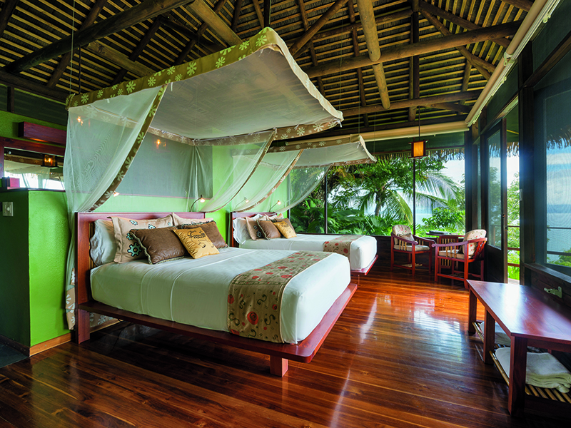 As well as creating luxurious cabins in a truly breathtaking location, John and Karen Lewis are also committed to conserving the surrounding environment - they have signed a conservation easement that will result in the permanent protection of more than 900 acres of tropical rainforest.