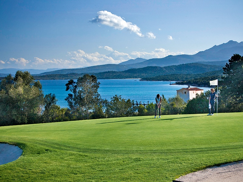 Porto Cervo is a paradise for living life outdoors, and offers a picturesque golf course.
