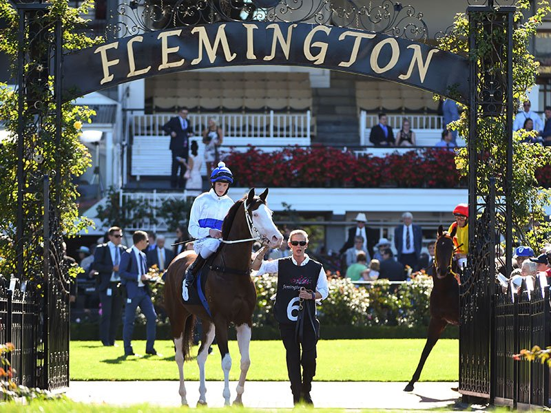 """Set on over 300 acres of river flats, Flemington is one of the longest racetracks in Australia. The track is famous for the """"Straight Six"""" - the six-furlong length of straight track that makes it one of the most challenging tracks in the world. Photograph: Getty Images"""