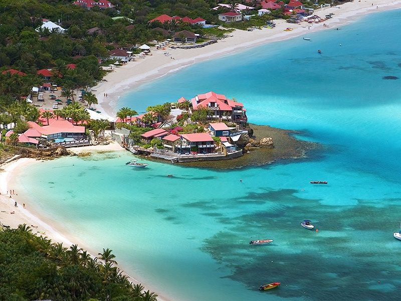 Eden Rock was the first hotel to be built on St Barts, and was constructed by famous Caribbean aviator and adventurer Rémy de Haenen. Photograph: Laurent Benoit.