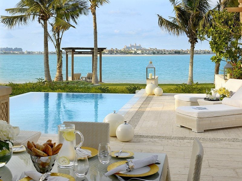 Brunch in style by the pool of a private villa at One&Only The Palm — or even on the man-made sands. Photograph: Nicolas Dumont