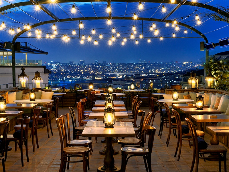 The roof terrace at Soho House is a refuge from the brouhaha of Beyoğlu. Photograph: Soho House Istanbul