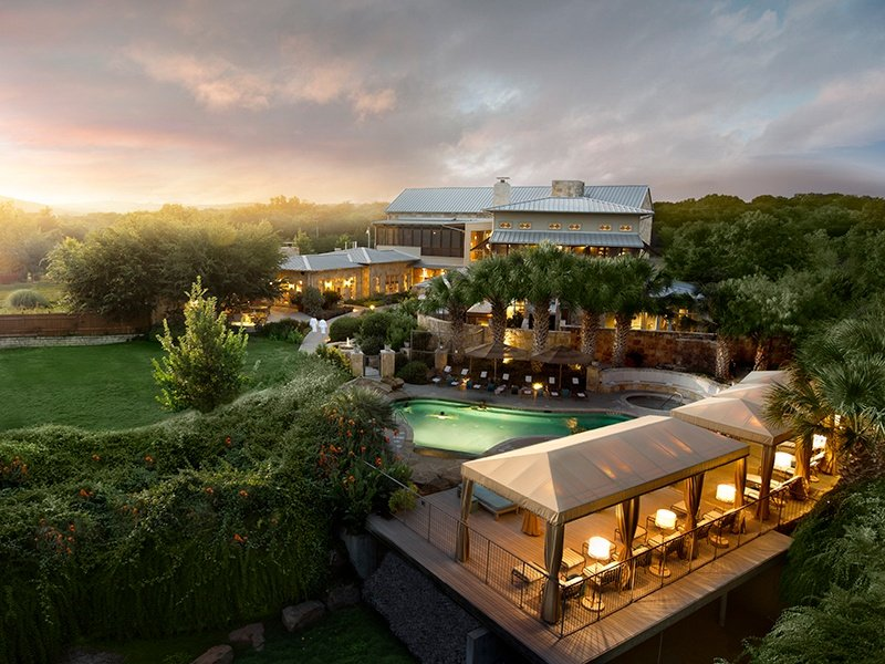 The 40-room fitness resort in Austin overlooks the Balcones Canyonlands nature reserve. Photograph: Lake Austin Spa Resort