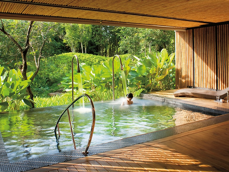 Relax in Phulay Bay's spa lagoon while you await traditionally inspired Thai, Asian, and European treatments. Photograph: Chris Cypert