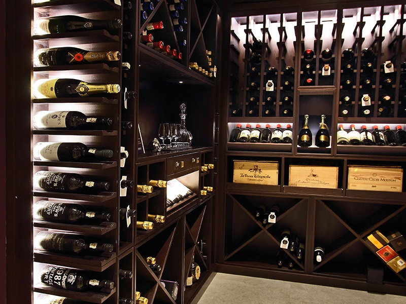 Cellar Maison's bespoke wine rooms showcase clients' collections, while keeping the bottles in optimum conditions.