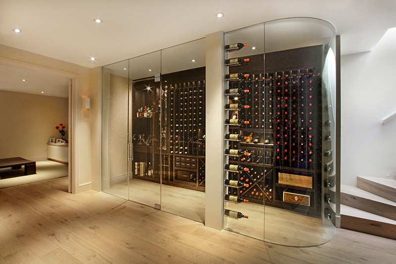 Cellar Maison specialises in wine pods that are built into the corner of a room, either with a curved or square glass corner. Pods allow collections to be viewed by owners and guests, while keeping bottles stored at optimum temperature and humidity.