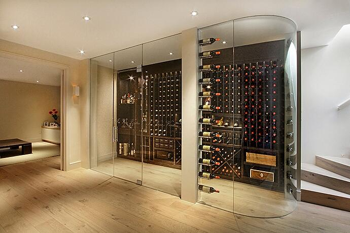 Cellar Maison Specialises In Wine Pods That Are Built Into The Corner Of A Room