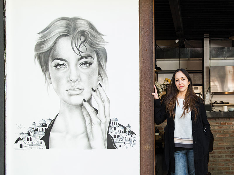 Women have avoided street art because of its sometimes controversial nature, says Avila. Photograph: Jessica Sample. Banner photograph: Jessica Sample