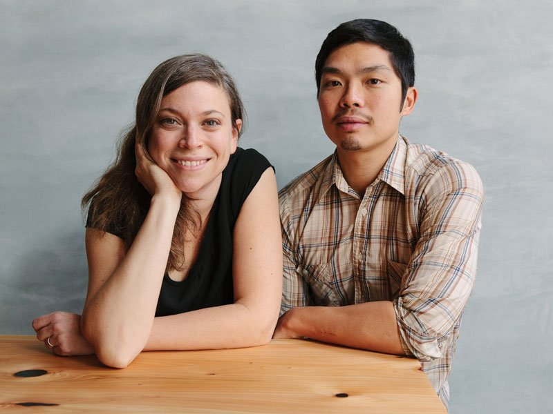 Less than a decade ago, Karen Leibowitz and Anthony Myint began their food partnership with a weekly food truck – just for fun. Now they are partners in restaurants in San Francisco and New York. Photograph: Alanna Hale. Banner: The bar area at The Perennial, San Francisco. Banner photograph: Helynn Ospina