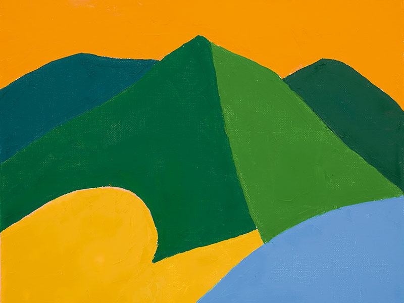 Northern California's Mount Tamalpais is often depicted in Etel Adnan's striking paintings. Pictured here, <i>Untitled</i> (2014). Photograph: © The Artist / White Cube (Jack Hems)