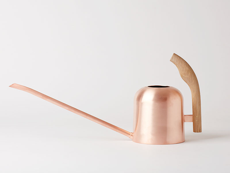 Plant maintenance is a pleasure with the Mjolk copper watering can.
