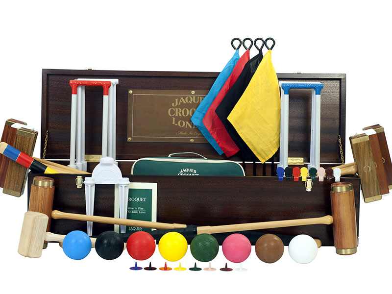 Anyone for croquet? This luxurious set by Jaques London contains everything you need for this most genteel outdoor game.