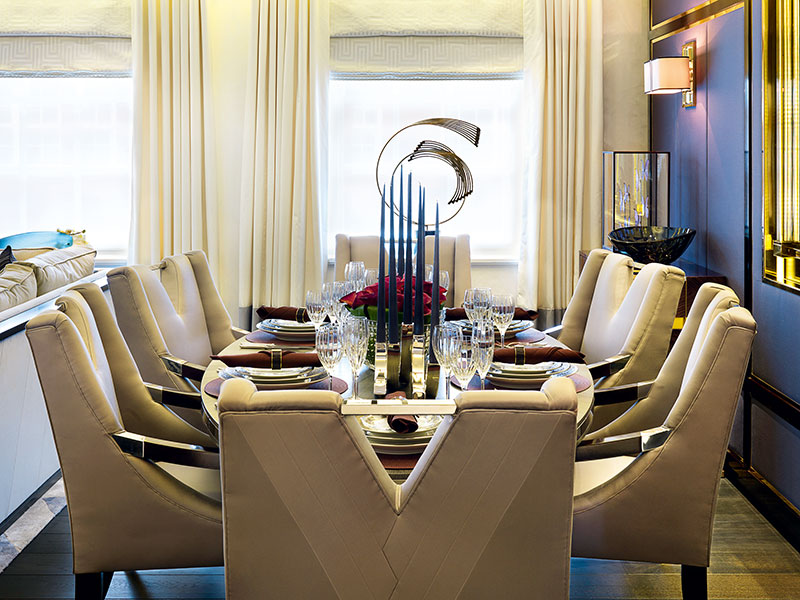 """Upholsterer Aiveen Daly's work has provided the finishing touches to yachts including Candyscape. She believes a yacht's design should be a """"manifestation of its owner's personality."""""""