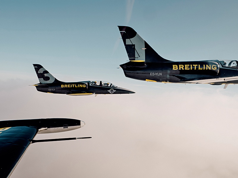 Blue Marble Private's tailored experiences have included flying with the Breitling Jet Team.
