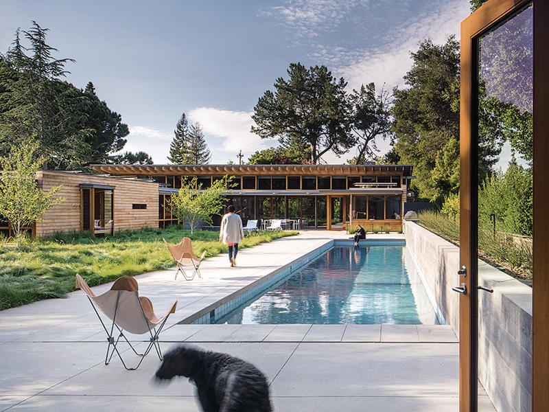 This property in a Los Altos neighborhood is a contemporary imagining of the Northern California ranch style. Photograph: Nick Lehoux. Banner image: Studhorse in Washington is designed in a sleeker style, inspired by modernism yet still embracing a relationship to the land. Photograph: Benjamin Benschneider