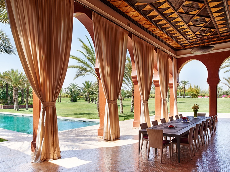Desert Rose Palace comprises a seven-bedroom main residence and four-bedroom guesthouse, each with its own private garden. Photograph: Kensington Luxury Properties
