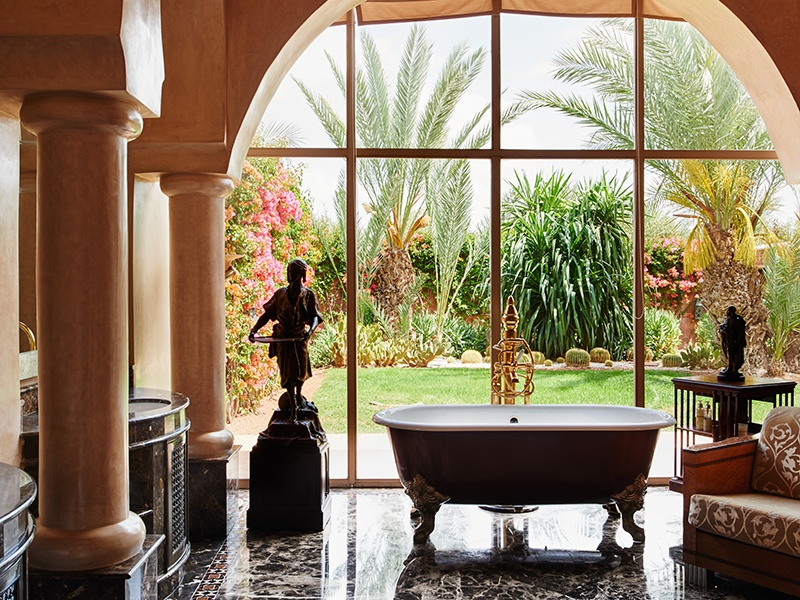 Polished interiors make way to views of lush gardens. Photograph: Kensington Luxury Properties