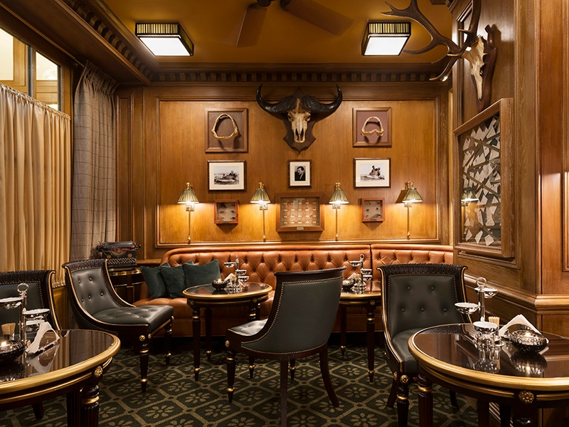 The legendary Bar Hemingway in the recently renovated Ritz Paris has maintained its cozy atmosphere and five-star service. Photograph: Vincent Leroux
