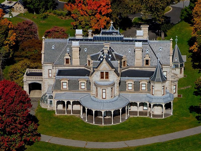 Built between 1864 and 1868, the Lockwood-Mathews Mansion in Norwalk is a designated National Historic Landmark.