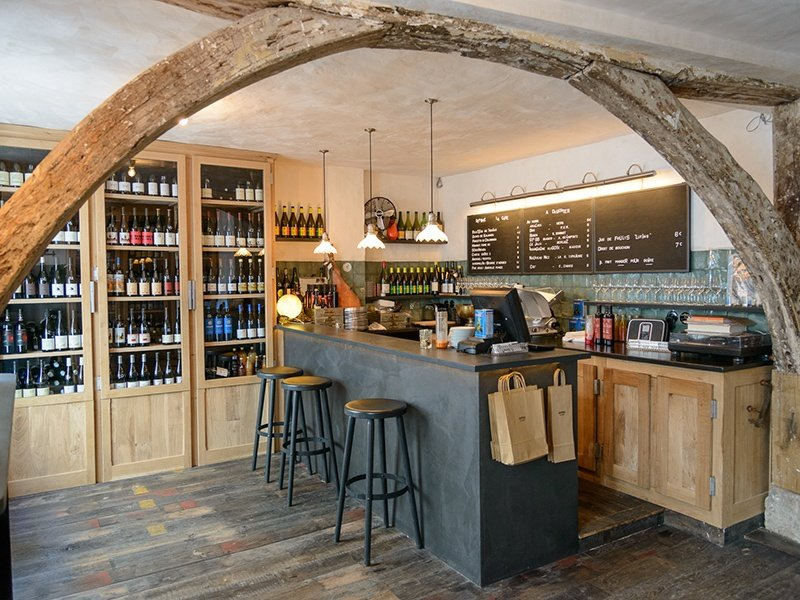 Pull up a stool or upcycled crate at Septime La Cave and allow the knowledgeable staff to recommend a glass or bottle of wine.