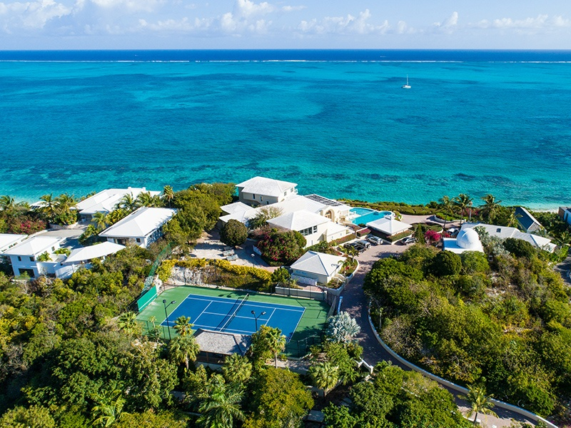 The 15,000-square-foot Stargazer Villa is located on a 60-foot bluff on Providenciales in the Turks and Caicos. Photograph: Regency International Holdings