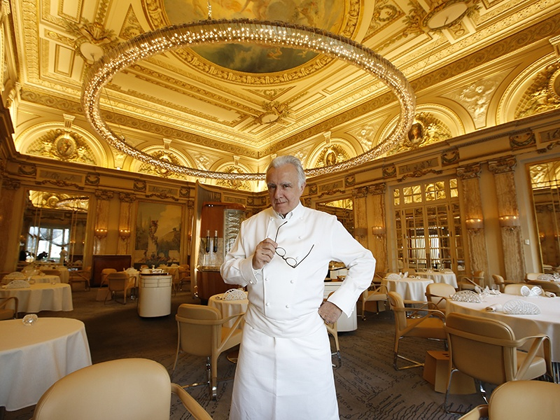 Alain Ducasse's restaurant at the Plaza Athénée has sustainability, seasonality, and <i>naturalité</i> at its core. Photograph: Getty Images