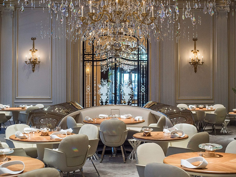 The unparalleled Alain Ducasse au Plaza Athénée marries inventive cuisine, fine wines, and flawless service. Photograph: Getty Images