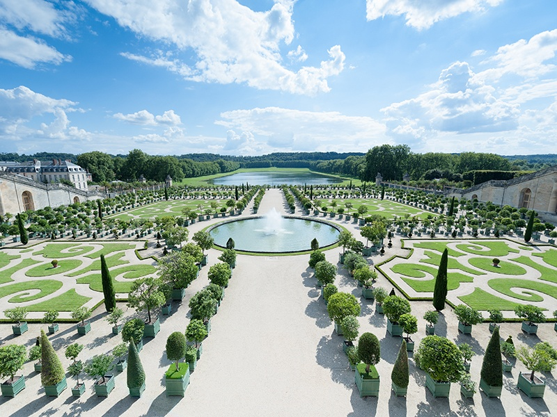 The Palace of Versailles southwest of Paris was formerly a hunting lodge and private retreat for Louis XIII and his family. Photograph: Alamy