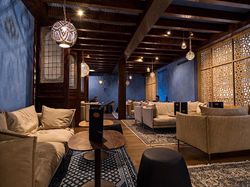 Le Train Bleu's intimate Moroccan lounge is a peaceful escape from the busy Gare de Lyon.