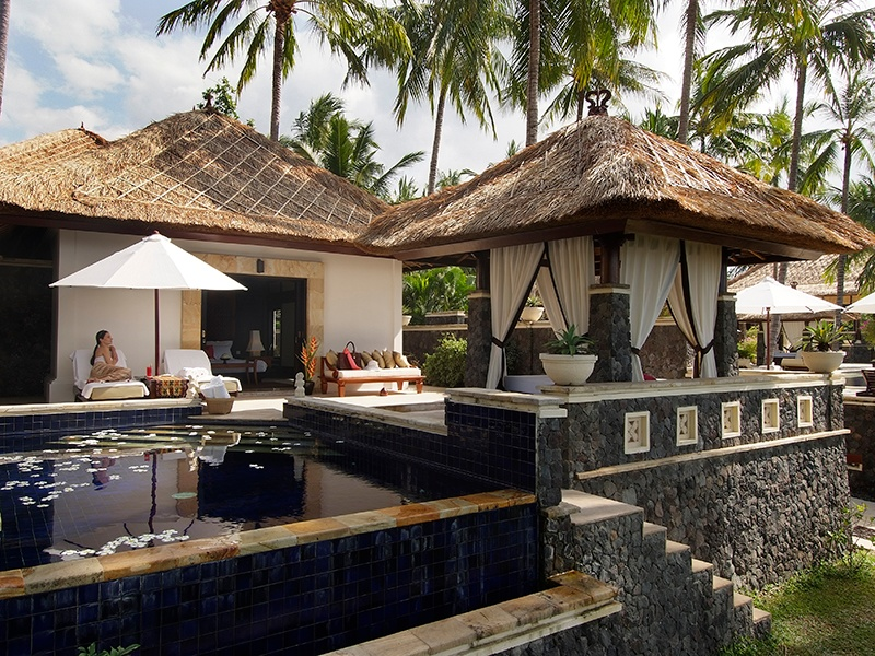 The lush surrounds of Spa Village Resort Tembok create a soothing atmosphere for its School of Life wellness program.