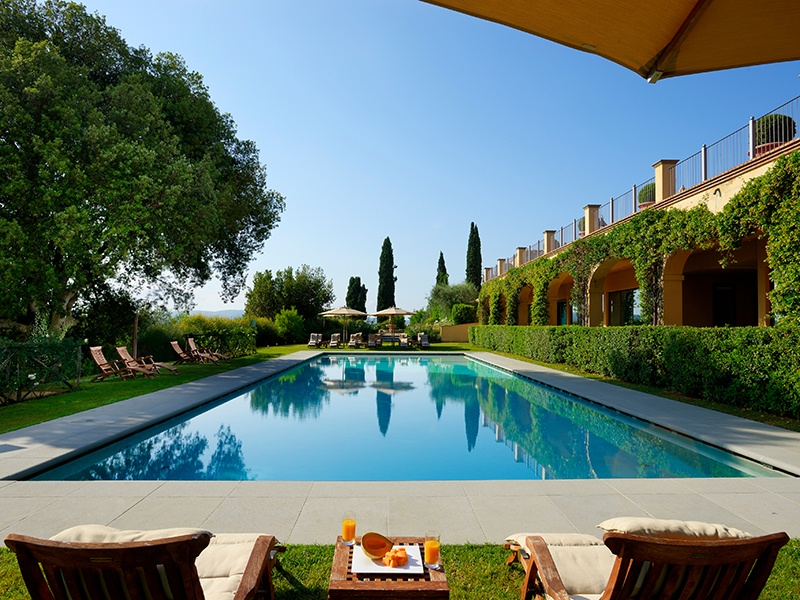 """The castello's new """"Reconnect"""" spa program is designed to improve mindfulness and reduce stress through relaxation, yoga, nutritious meals, and spa treatments."""