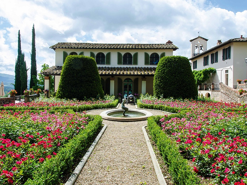 This historical Chianti estate is just 30 minutes' drive from Florence, Italy. Dutch painter Christiaan Karel Appel lived here from 1989 to 2000, and one of his sculptures remains in the lavender garden. On the market with Agenzia Romolini Immobiliare Srl, an exclusive affiliate of Christie's International Real Estate.