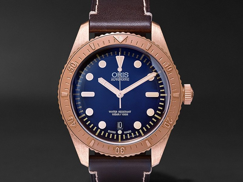 The Oris Carl Brashear Limited Edition timepiece is made with bronze - which is traditionally used to make diving helmets.