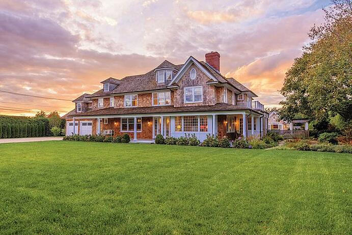 Moments from Mecox Bay and the Hamptons finest Atlantic Ocean beaches, this newly constructed traditional cedar-shingle home is LEED certified for eco-friendly living.