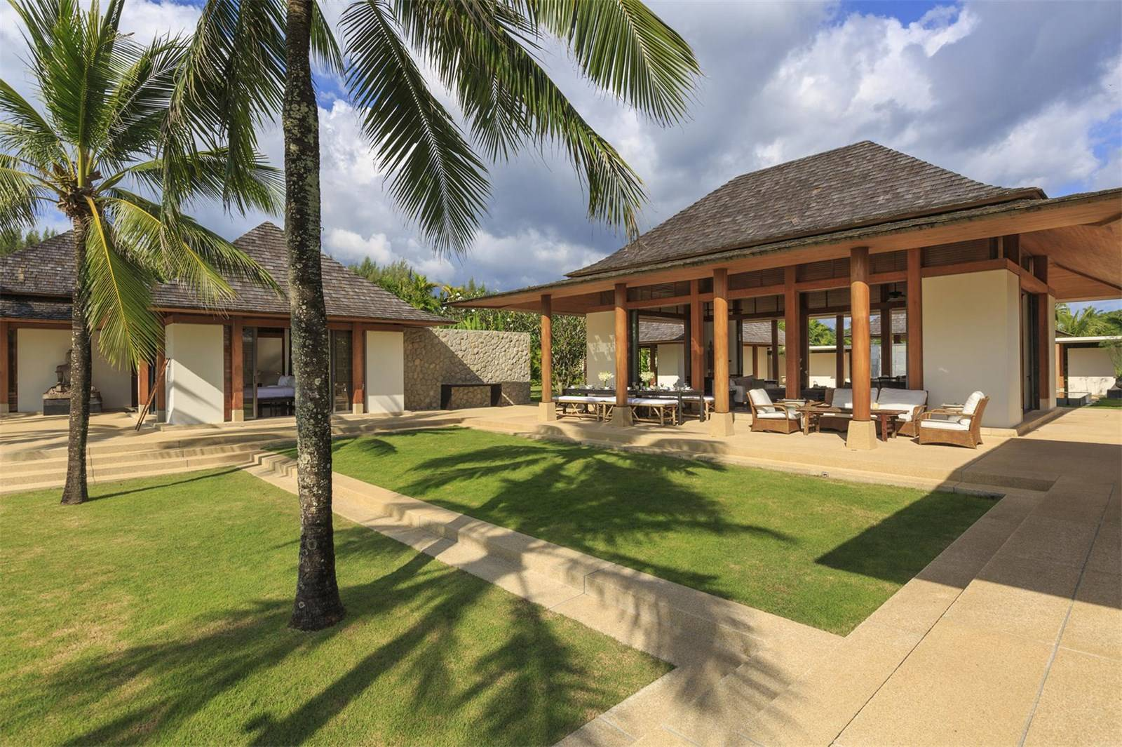 """The property's """"pavilion compound"""" design makes it an ideal extended-family residence and entetaining venue."""