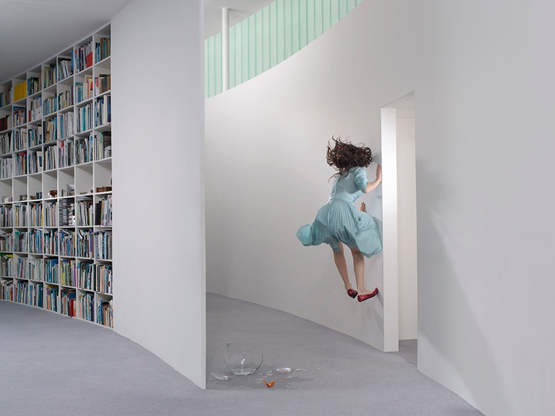 <i>Hallway</i> (2008), part of Julia Fullerton-Batten's <i>In Between</i> series, depicting a girl's experiences as she moves from childhood into womanhood.