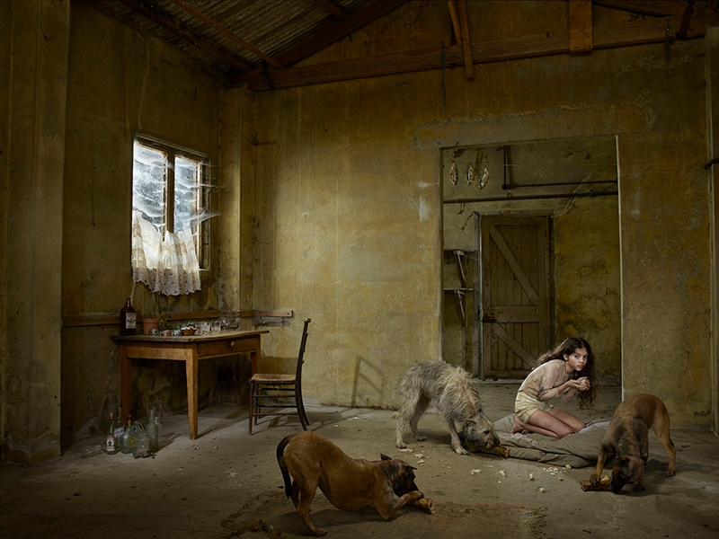Julia Fullerton-Batten's&nbsp;<i>Madina, Russia</i> (2013), which featured in the artist's <i>Feral Children</i> project—15 images documenting young children who have lived in isolation from human contact.