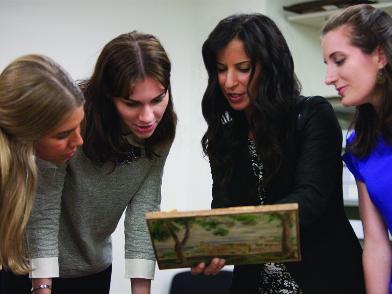 """Christie's Education courses offer participants """"hands-on"""" access to artworks, with experienced course leaders offering their expertise. Photography by Amy Obarski"""